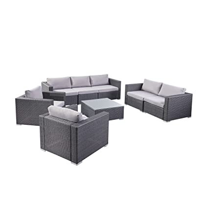 Amazon Com Great Deal Furniture Samuel Outdoor 8 Piece Wicker