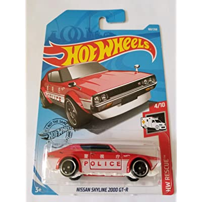 Hot Wheels 2020 Hw Rescue - Nissan Skyline 2000 GT-R, Red 160/250: Toys & Games