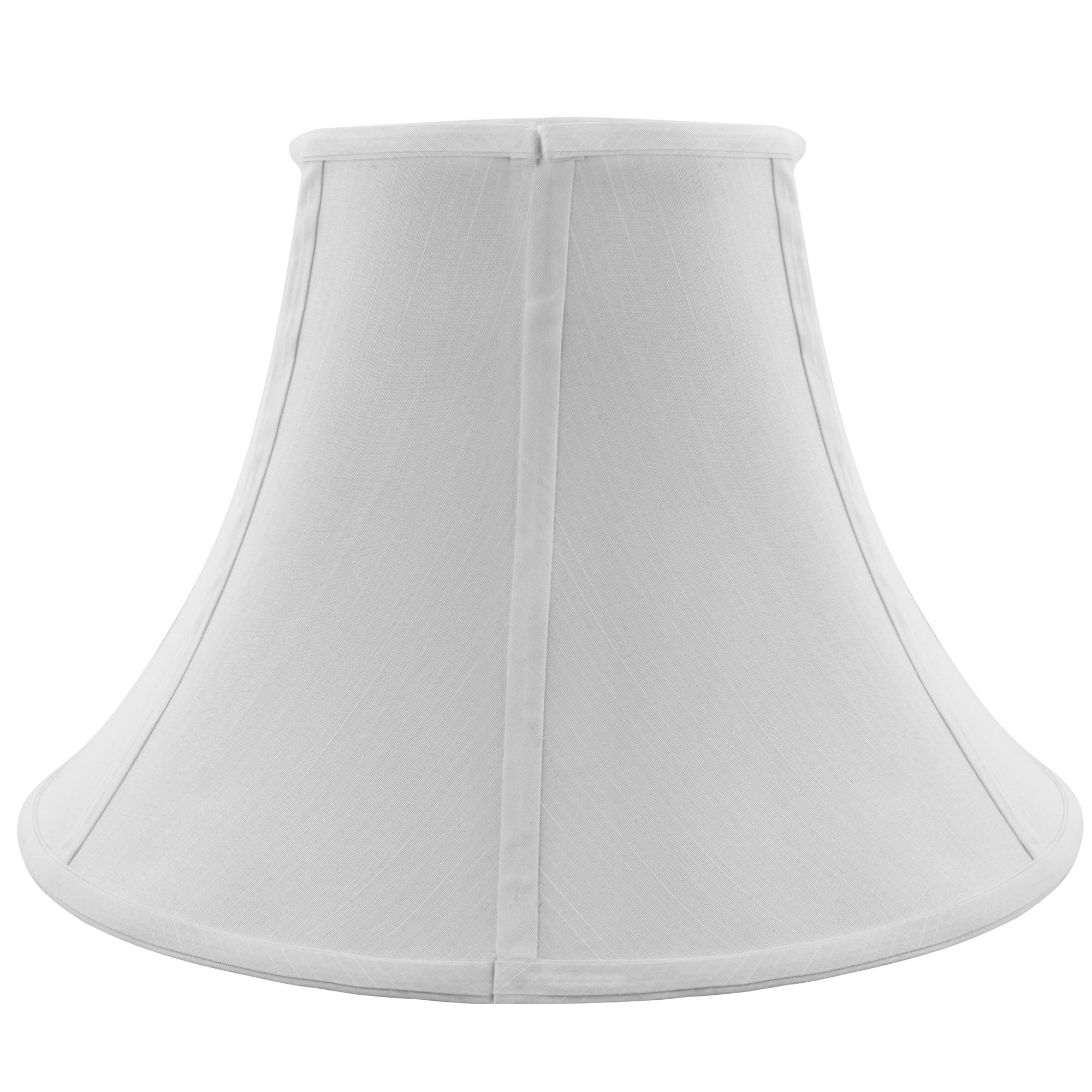 Bell Lamp Shade, Spider Lampshade with Fabric Lining and Zinc Coating for Bedroom, 10'' x 18'' x 11'' (White)