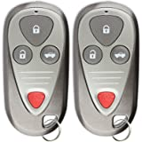 KeylessOption Keyless Entry Remote Control Car Key Fob Replacement for E4EG8D-444H-A (Pack of 2)