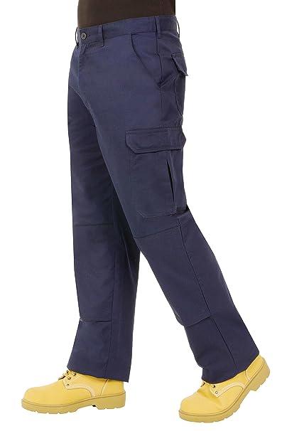 Proluxe Endurance da Uomo Cargo Combat Pantaloni da Lavoro con Tasche al  Ginocchio e Cuciture rinforzate - Disponibile in Nero 36196d2f348