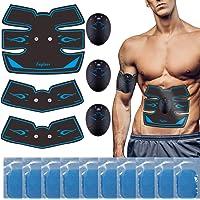 fayleer Electroestimulador Muscular Abdominales, EMS Estimulación Muscular Masajeador Eléctrico Cinturón con Pantalla…