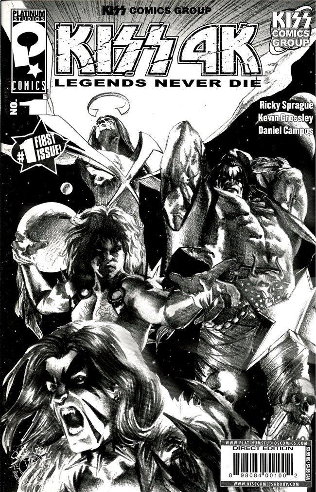 Download KISS 4K Legends Never Die #1 - Black & White Variant Edition (Dark Horse Comics 2007) PDF