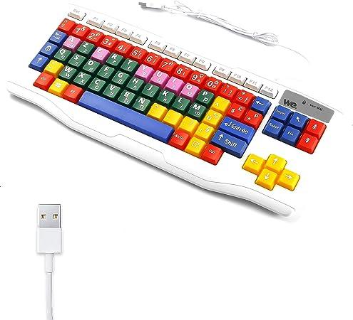 WE WeKids Teclado infantil USB de aprendizaje para niños ...