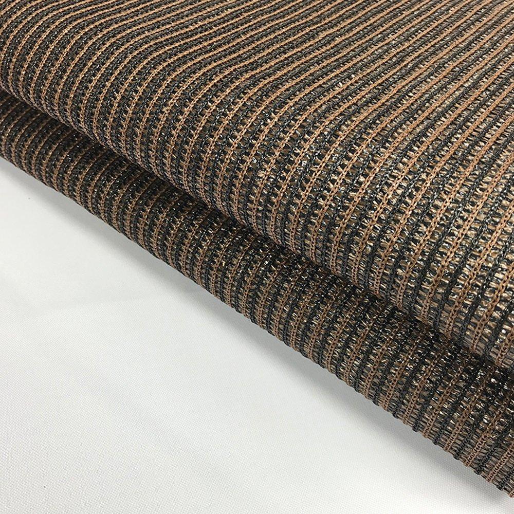 ALION HOME 180 GSM Sunblock Shade Fabric Roll, 95 UV Block Breathable Mesh for Fence, Garden, Backyard, Outdoor,Patio, Pergola, Greenhouse, Barn 12 x 50 , Brown
