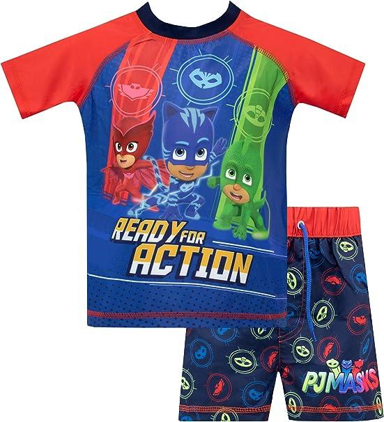 PJ Masks Ready for Action 3-Piece Pajama Shorts Set Size 3T