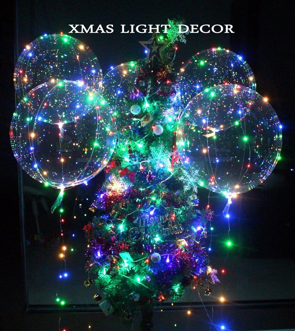 Globos LED Bobo globos de forma redonda transparente Globos de luz intermitente perfecto para fiesta de San Valent/ín Decoraci/ón de fiesta de boda 30PCS
