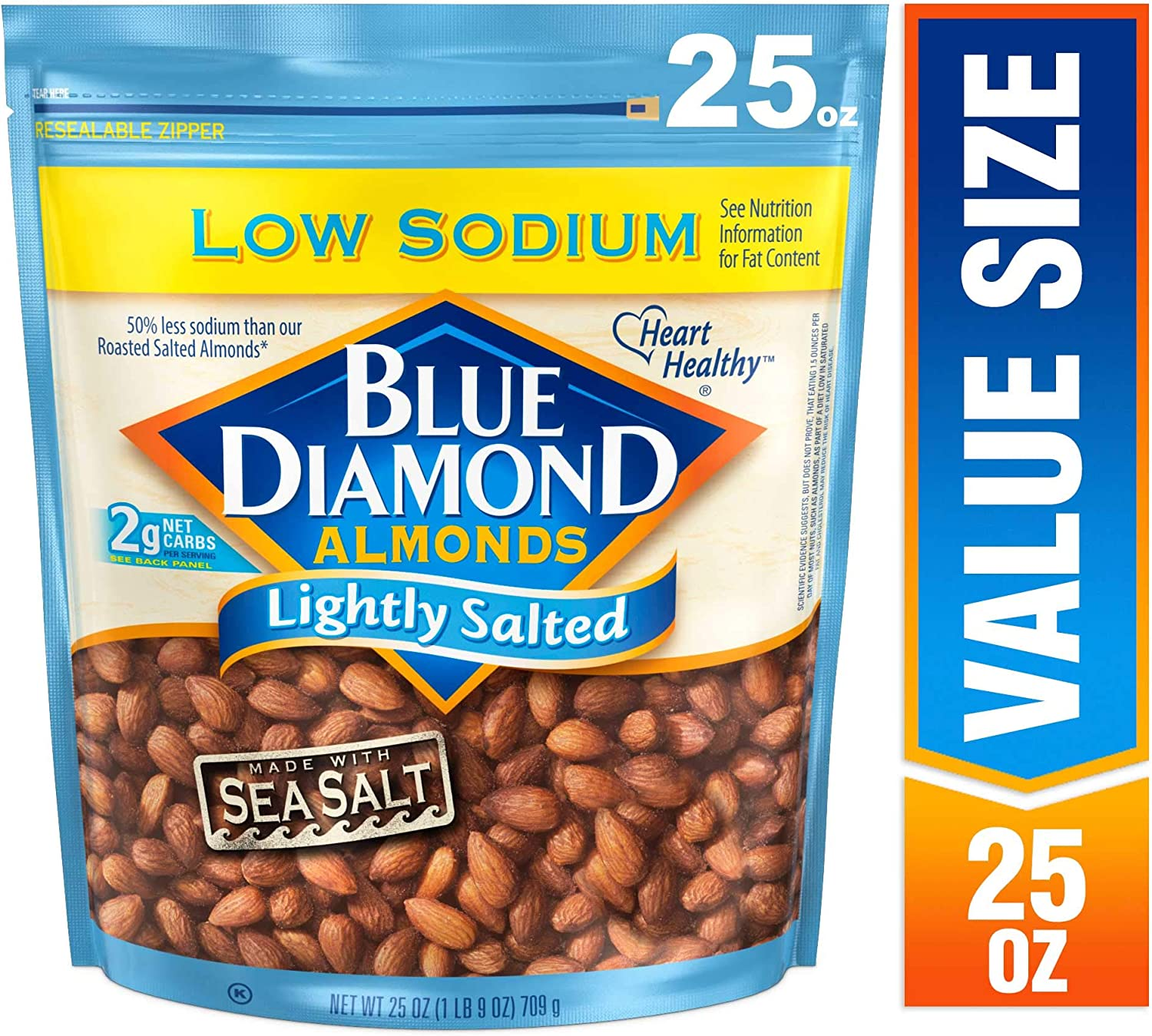 Blue Diamond Almonds, niedrig Sodium Lightly Salted, 25 Ounce