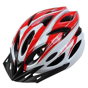 SODIAL Casco de bicicleta Casco de seguridad para adultos de ciclismo caminata con visera