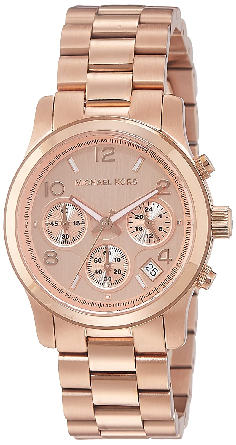 Amazon.com: Michael Kors Women\'s Runway Rose Gold-Tone Watch ...