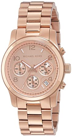 7151b7279e56 Amazon.com  Michael Kors Women s Runway Rose Gold-Tone Watch MK5128 ...