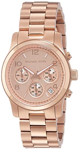 e56ddd0bb7f8 Amazon.com  Michael Kors Women s Runway Rose Gold-Tone Watch MK5128  Michael  Kors  Watches
