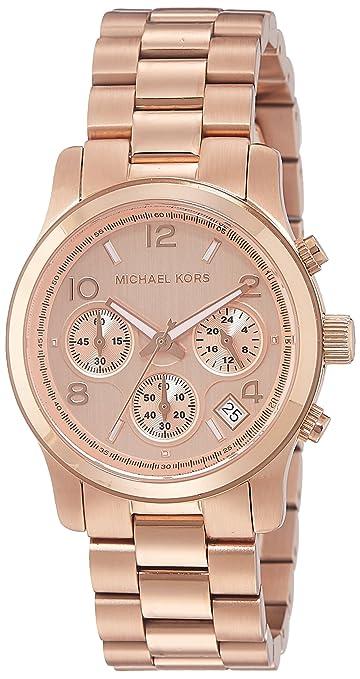 f35fa79ede627 Amazon.com  Michael Kors Women s Runway Rose Gold-Tone Watch MK5128  Michael  Kors  Watches