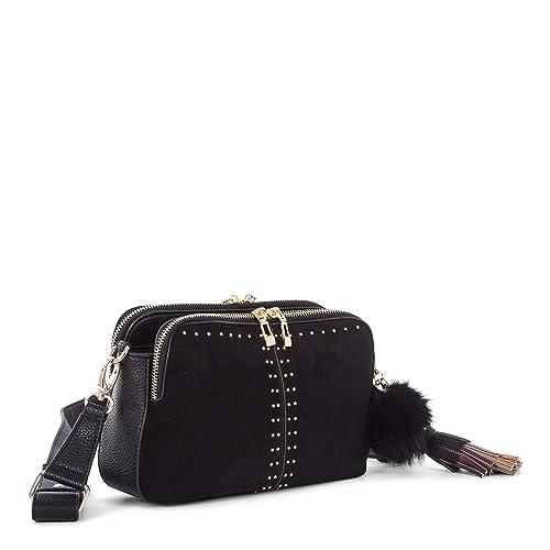 a2a3b8610ac1 Céline Dion Harmony Crossbody CBY5609 (Black)  Amazon.ca  Shoes ...