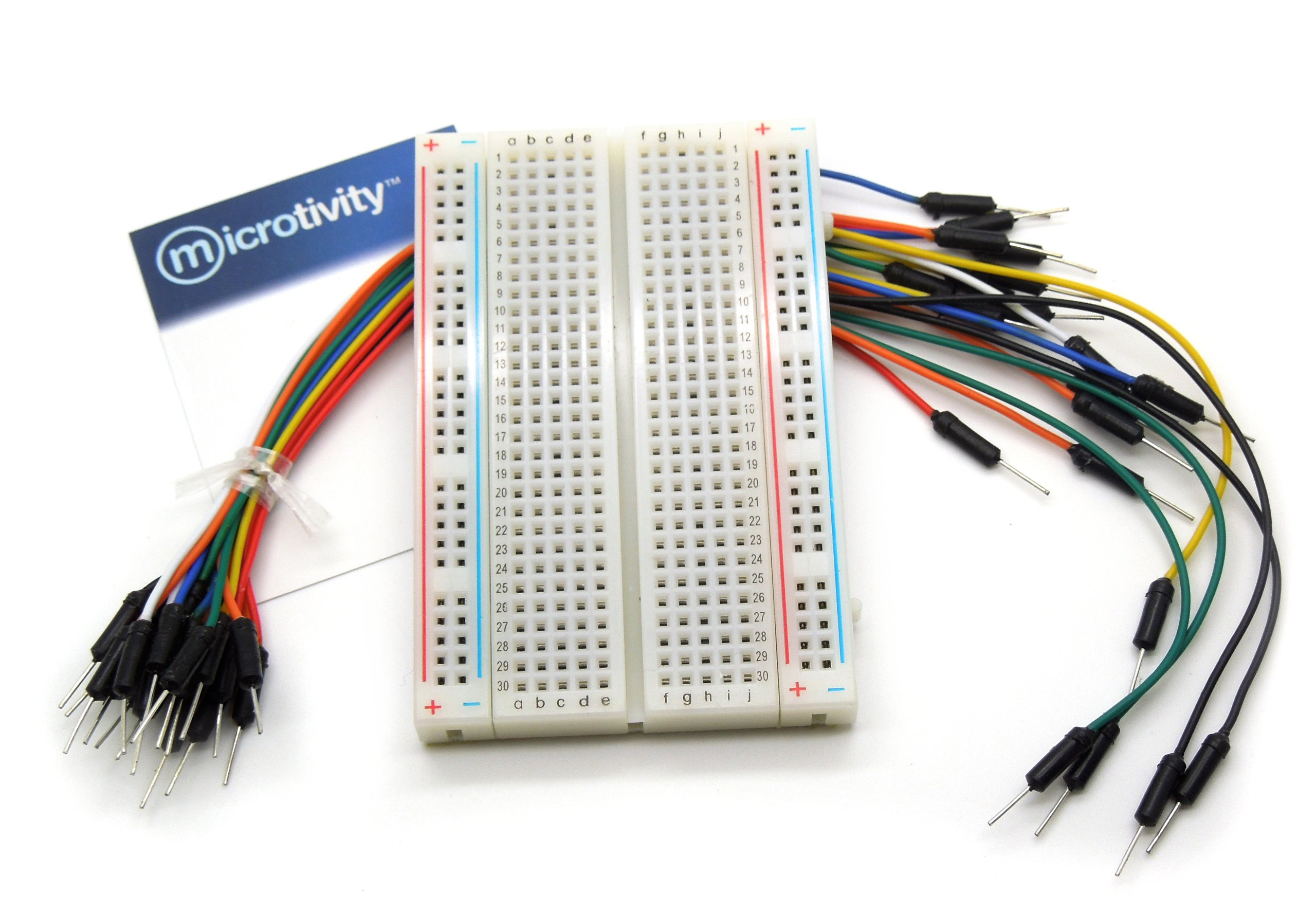 Microtivity Ib401 400 Point Experiment Breadboard W Capacitors And Resistors A Circuitbreadboard Wires Batteries Jumper Office Products