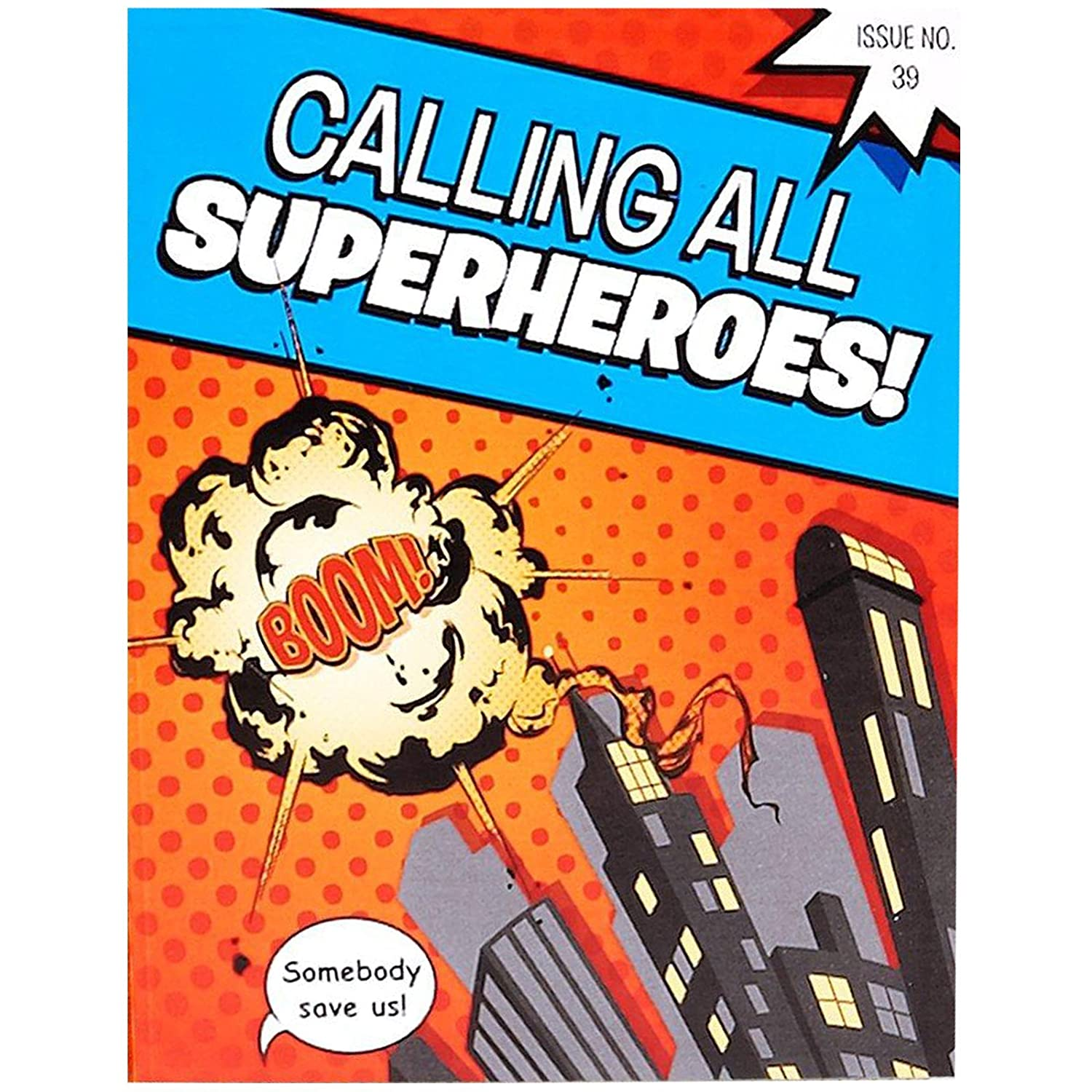amazoncom superhero comics party supplies invitations 8 toys games - Superhero Birthday Party Invitations