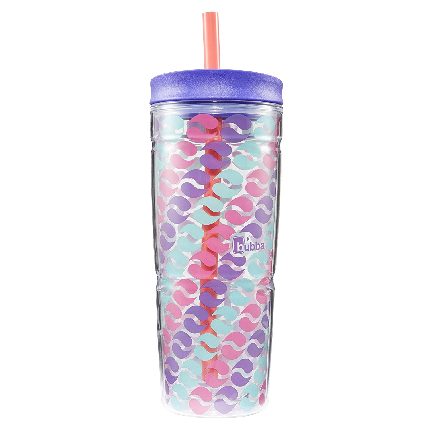 Bubba Envy Double Wall Insulated Straw Tumbler, 24 oz, Blue Triangle Graphic Bubba Brands 1965876