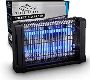 White Kaiman Indoor Bug Zapper - 4000V & 16W UV Light Electric Mosquito Killer and Indoor Insect Light Powerful and Designed w/Style