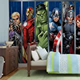 Papier Peint Photo Mural 964P4 - Collection Marvel Avengers - XL - 254cm x 184cm - 2 Part(s) - Imprimé sur 115g/m2 papier mural