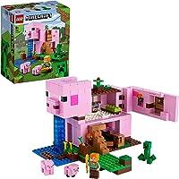 LEGO 21170 Minecraft Het Varkenshuis Bouwset met Alex, Creeper en Bouwbare Varken Poppetjes voor Kinderen van 8 Jaar en…