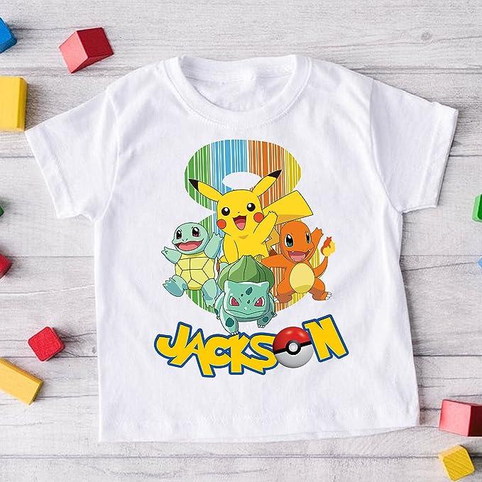 Amazon.com: Custom Pokemon Birthday Shirts Pokemon Birthday Kids Shirt Pikachu Birthday Shirt Custom Pokemon Pokemon Birthday Party: Clothing