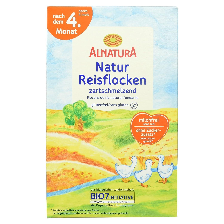 Alnatura Bio Naturreisflocken, zartschmelzend, glutenfrei, 6er Pack (6 x 250 g) 129971
