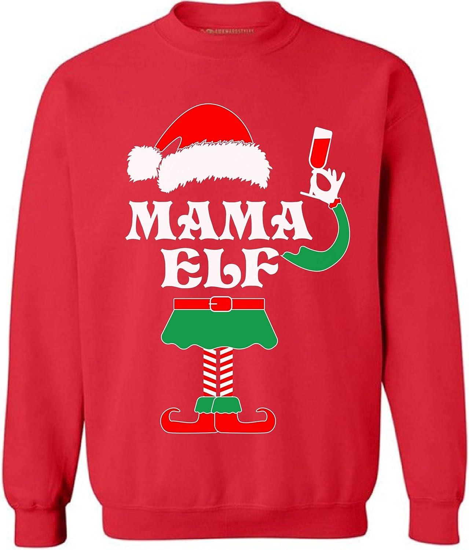 Awkward Styles Mama Elf Sweatshirt Elf Christmas Sweater Ugly Christmas Elf
