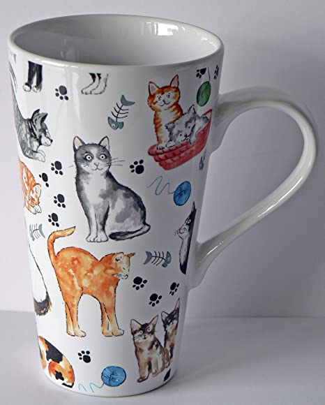 Taza grande con diseño de gato en inglés taza de su caballo en cualquier con gatos