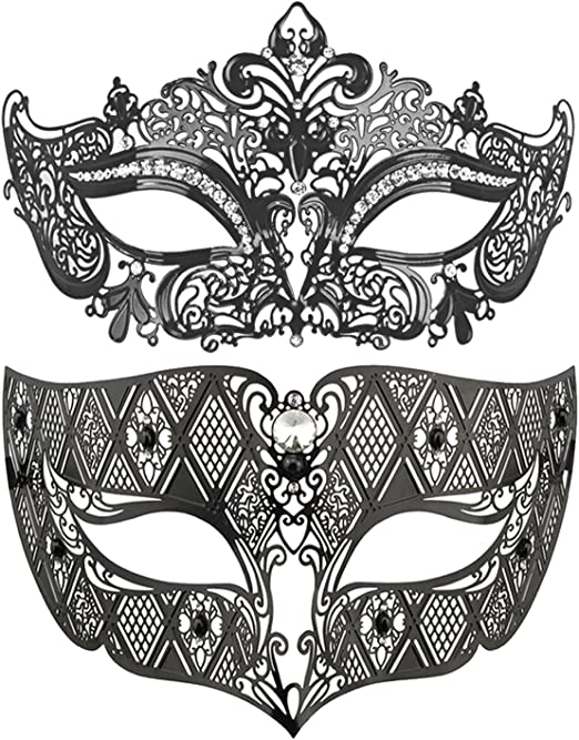 Black Lace Eye Mascarade Ball Mask Lacey Mask