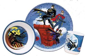 Batman \u0026 Robin 3-piece Dinnerware Set  sc 1 st  Amazon.com & Amazon.com : Batman \u0026 Robin 3-piece Dinnerware Set : Baby Dinnerware ...