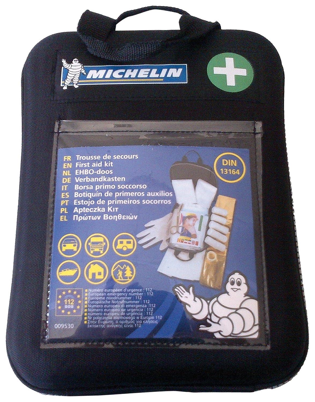Michelin 92400 Verbandkasten nach DIN 13164:2014, mit 1-Hilfe-Sofortmaß nahmen, Softcase Gehä use Michelin - License