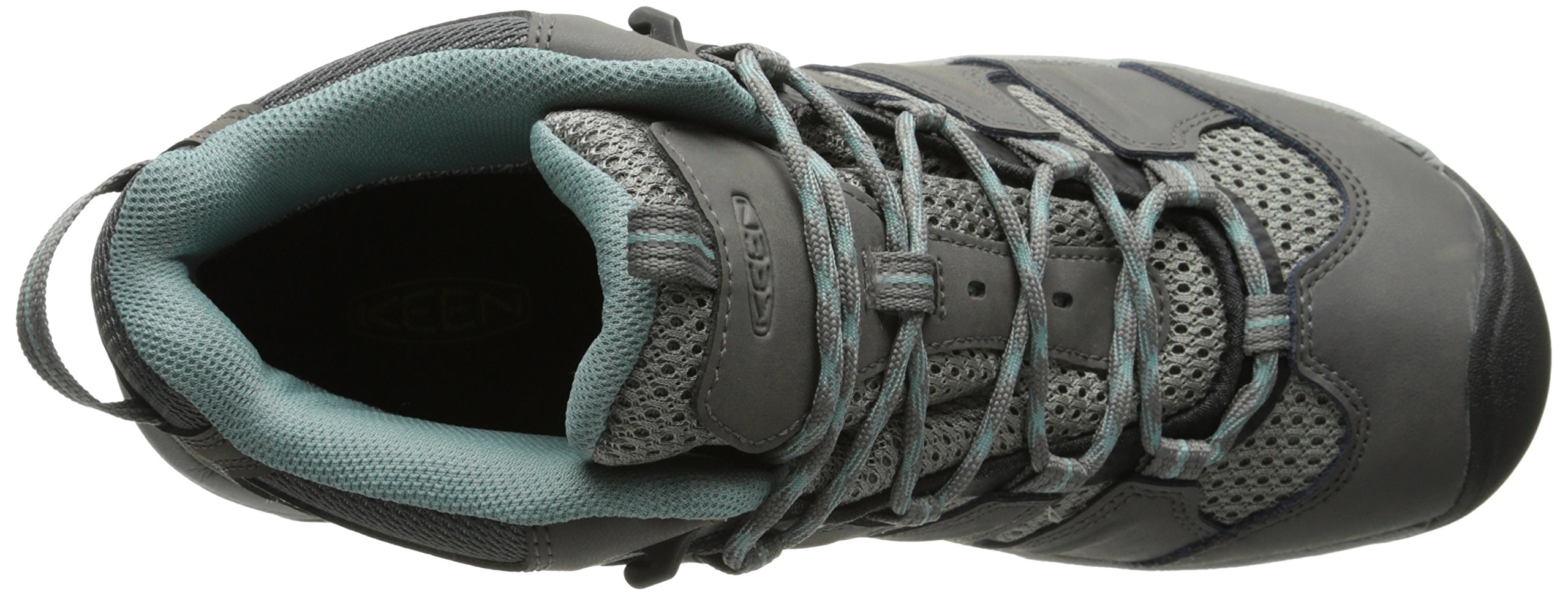 KEEN Women's Koven Mid Waterproof Outdoor Boot, Gargoyle/Mineral Blue, 8 M US by KEEN (Image #8)