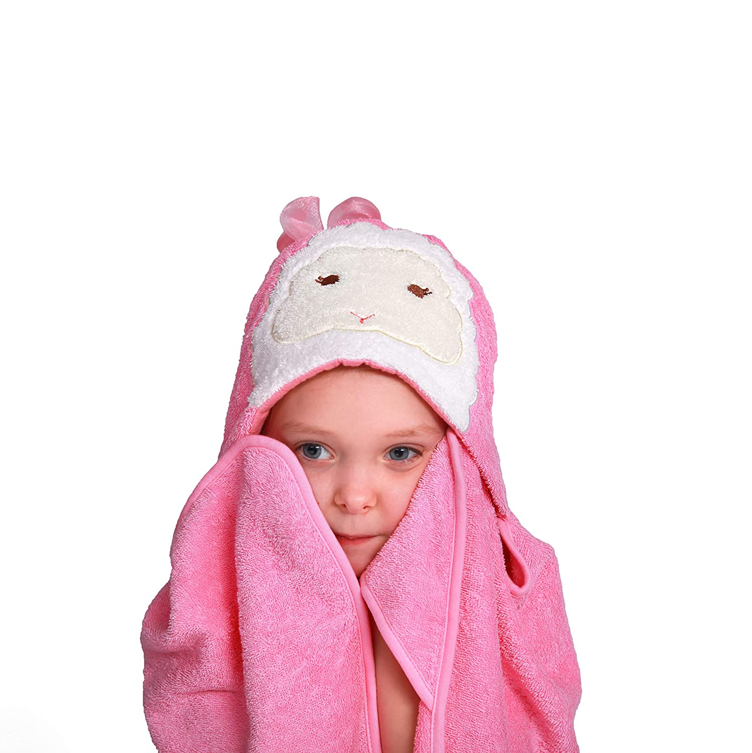 Kids Hooded Towel,Organic Cotton Strong Absorbent Wraps for Bath,Beach,Pool Time,Best Toddler Shower Towels,76x92cm