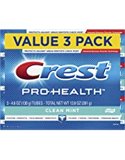 Crest Pro-Health Smooth Formula Toothpaste, Clean Mint, 4.6 oz, 3 Count