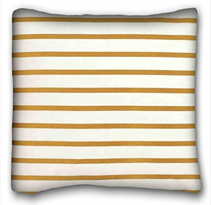 Amazon.com: Tarolo Decorative Striped Mustard Yellow White ...