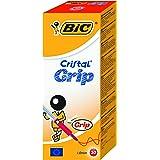 BIC Kugelschreiber Cristal Grip (Kappenmodell, 0.32 mm) Schachtel à 20 Stück, rot