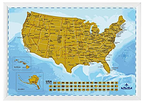 Amazoncom Wonderful Maps Scratch Off US Perfect Gift For - Amazon map of us