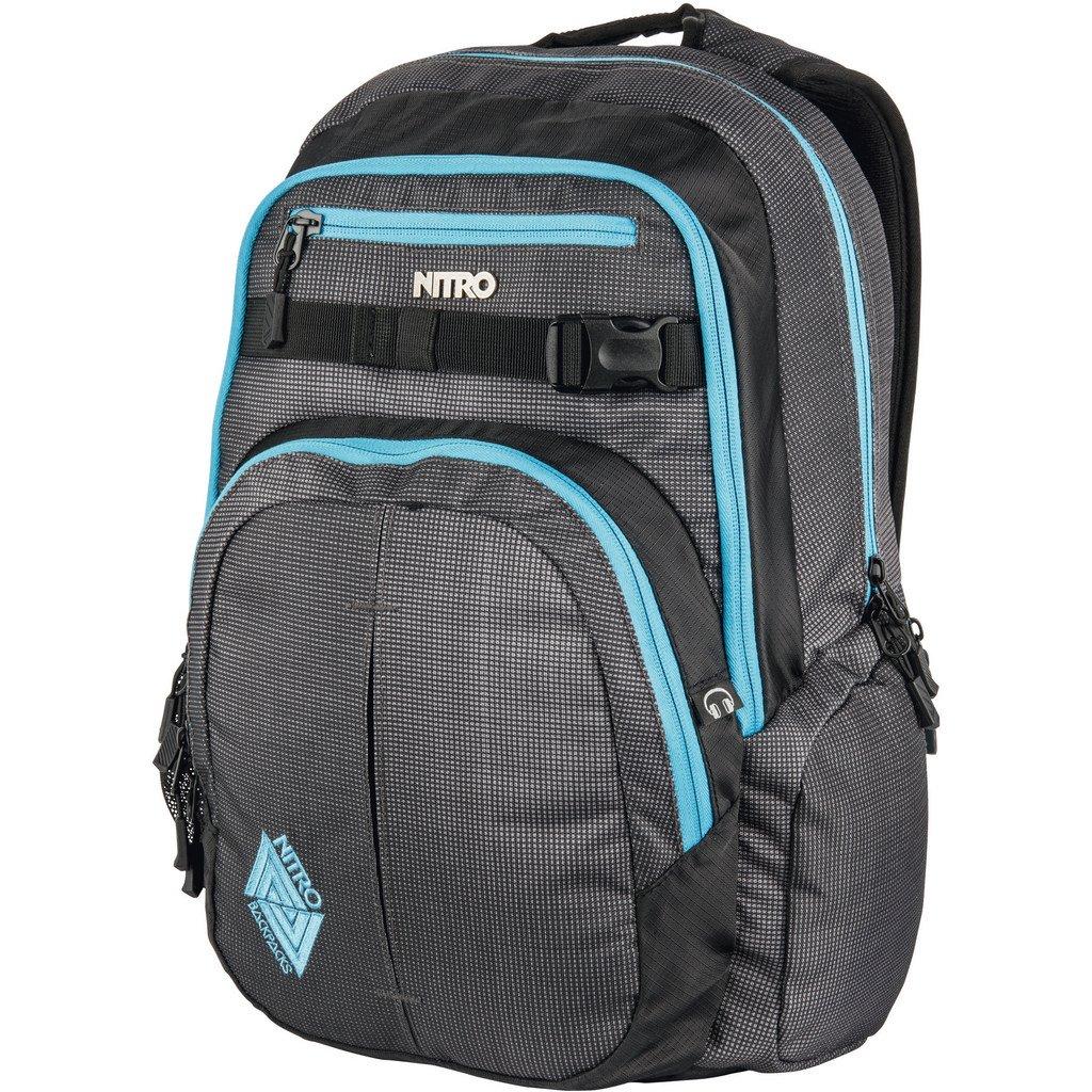 Nitro Chase Rucksack Blur//Blue Trims Daypack mit 17 Zoll Laptopfach Schoolbag Schulrucksack mit Organizer