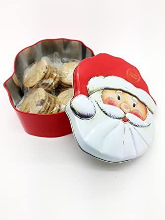 Christmas Santa Claus Biscuit Tin With Biscuits 200g Cranberries