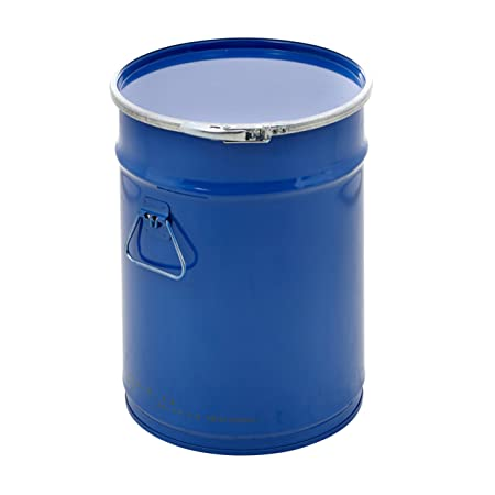 Open Top Steel Storage Drums With Lid Industrial Feed Waste Barrel  Container   3 Sizes (