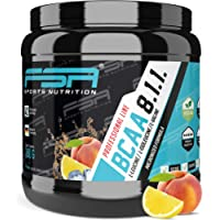 BCAA powder from the German pro sport brand FSA Nutrition® | High-dose amino acids 8:1:1 | Vegan | Low-carb | For fitness, sport, muscle development, bodybuilding and weight loss | Peach Ice Tea