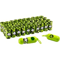 Franklin Pet Supply Biodegradable Eco Dog Waste Bags – 42 Rolls – 840 Total Bags – 2 Holders – Poop Bags – Large…