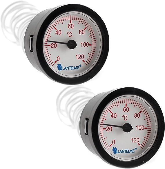 Lantelme Heizung Zeiger Thermometer 2 Stück Set Warmwasser Boiler Wasser Temperaturanzeige Kapillarthermometer 7319 Baumarkt