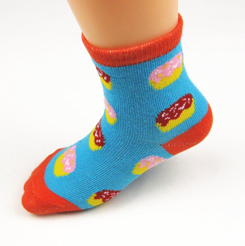 Z-Chen 12 Pack of Baby Girls Cotton Non-skid Socks Anti Slip