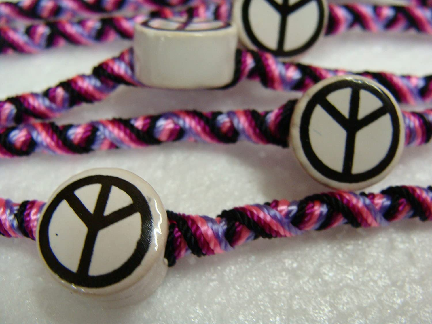 Amazon.com: Peace Symbol Friendship Bracelets Pack of 12 Units Gifts Schools Teams Wholesale: Toys & Games