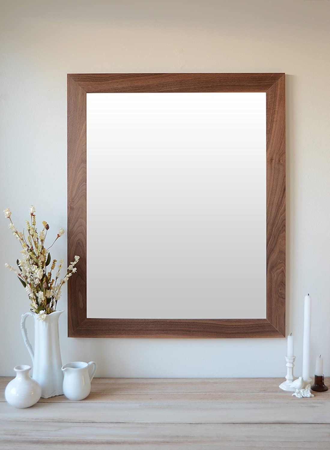 Solid Walnut Hardwood Farmhouse Mirror