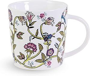 Vera Bradley Ceramic Coffee Mug/Tea Cup, Dishwasher and Microwave Safe, 12 Ounces, Foxwood Floral