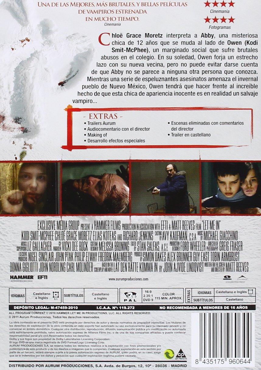 Amazon.com: Déjame Entrar (Import Movie) (European Format - Zone 2) (2012) Kodi Smit-Mcphee; Chloë Grace Moretz; Matt R: Movies & TV