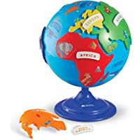14-Pieces Learning Resources 3D Geography Fine Motor Puzzle Globe