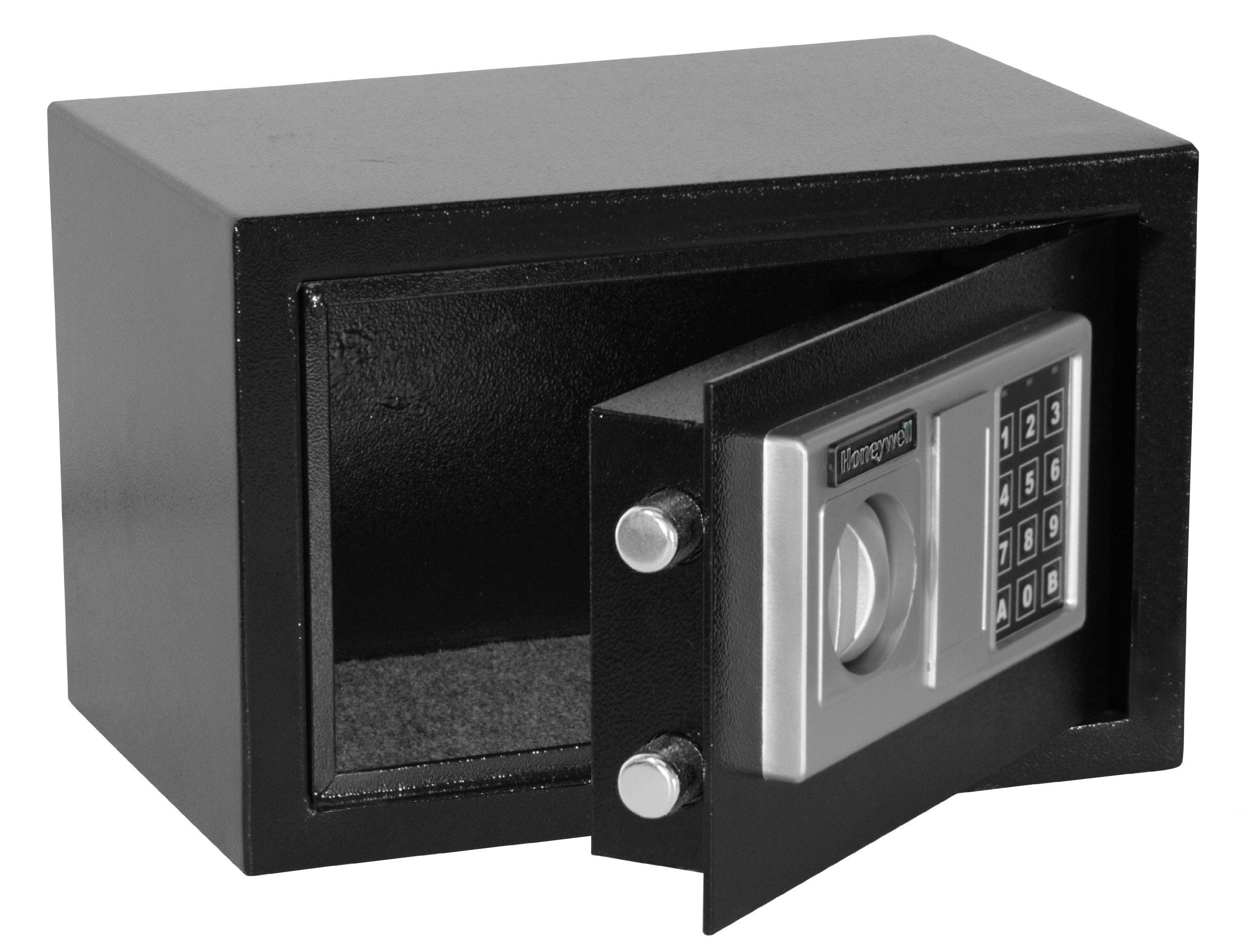 HONEYWELL - 5301DOJ Approved Steel Security Safe with Digital Lock, 0.28-Cubic Feet, Black